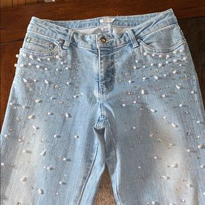 """Cache pearl jeans size 6 X 31"""" stretch"""